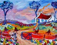 Artwork of Portchie exhibited at Robertson Art Gallery. Original art of more than 60 top South African Artists - Since Paintings I Love, Beautiful Paintings, Kitsch, African Paintings, South African Artists, Whimsical Art, Pretty Art, Artist Painting, Landscape Art