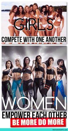 Girls Vs Women. #BeMoreDoMore  http://motivate2getfit.com?p=684