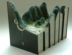 Encyclopedic Landscape: Artist Carves 24-Volume Book Set