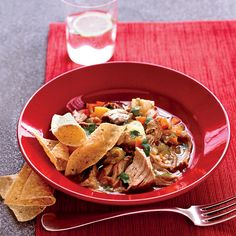 Pork and tomatillo stew is paleo and approved. This spicy Mexican-style stew is loaded with vegetables, including carrots, an excellent source of vitamins A and K. Andrew Murray makes it . Pork Recipes, Wine Recipes, Mexican Food Recipes, Cooking Recipes, Healthy Recipes, Ethnic Recipes, Chili Recipes, Mexican Cooking, Cooking Time