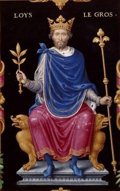 King Louis VI of France 1081-1137. Direct bloodline: 28th great-grandfather maternal, 26th paternal.