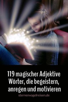 Cleverly chosen adjectives enliven your texts. - Cleverly chosen adjectives enliven your texts. Magical adjectives add color and feeling to every se - Writing A Book, Writing Tips, Writing Prompts, Learn German, Learn English, Learning For Life, Coach Me, Magic Words, German Language
