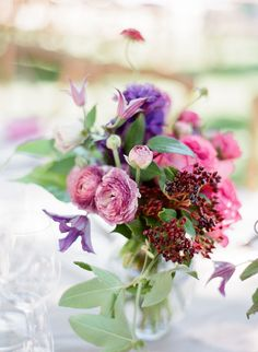 Photography : KT Merry | Floral Design : HuntLittlefield Read More on SMP: http://www.stylemepretty.com/2016/03/23/a-pink-purple-wedding-set-in-napa-valley/