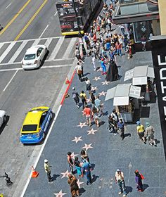 Nothing says Hollywood like the (literally) star-studded Walk of Fame, with each star bearing the name of a celebrity with enough cachet to be immortalized on the street. That means stars from James Dean and Marilyn Monroe to, more recently, Tina Fey and Neil Patrick Harris.