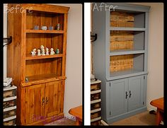 Bookshelf Makeover using pallets