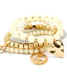 Pearl Bead Stackable Bracelet