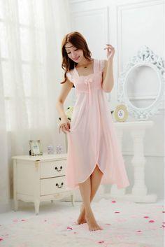 Womens Sleepwear silk  Sling Lingerie cute Sweet ComfortableNightgowns & Sleepshirts
