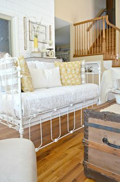 Vintage Crib Converted into Couch