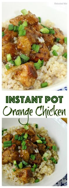 Combine diced chicken with a few simple ingredients in your Instant Pot to make this Orange Chicken in minutes!