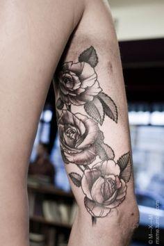 Flower Tattoos - inner arm