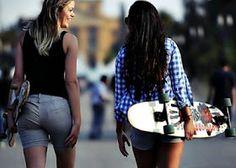 Skateboard, Girls, Skater Fashion, Skateboarding, Toddler Girls, Daughters, Skate Board, Maids, Skateboards