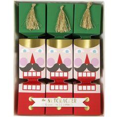 MERI MERI Nutracker mini Christmas crackers box of six (€25) ❤ liked on Polyvore featuring home, home decor, holiday decorations, christmas holiday decor, christmas home decor, meri meri, colorful home decor and christmas holiday decorations