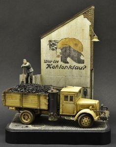 """Kohlenklau"" by Roy Schurgers. Kohlenklau = Coal thief. #diorama #WW2"