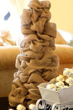tutorial: DIY Burlap Tree
