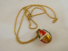 Vintage 1970's Necklace / Easter Egg #Locket by VintageBaublesnBits, $20.00
