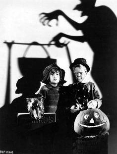 Robert Coogan and Jackie Cooper. Vintage Halloween photo.