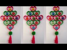 (95) DIY: Plastic Bottle Wall Hanging!!! How to Make Beautiful Wall Hanging With Plastic Bottle & Woolen - YouTube