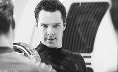 Benedict Cumberbatch as Khan! I kept forgetting he was evil because he is so attractive!