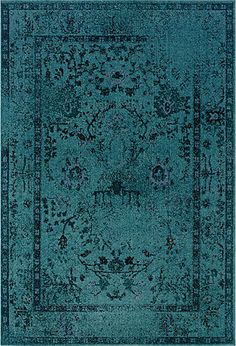 deep teal rug provides a great color punch for any space | combine with deep amethyst and garnet for a rich look, or crisp white for a fresh one