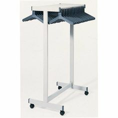 Rap Rack Double-Sided Floor Rack Color: Medium Grey by Magnuson Group. $322.99. RR-4F Color: Medium Grey Features: -Hat shelf.-Optional casters can be purchased separately (see related products).-Adds mobility to floor rack.-2.5'' casters: Use with OR, RR, DSF, DDF style racks.-4'' casters: Use with RR and DDF style racks only.-Available in Black.-Slotted hook for wire hanger rails.-Anti-theft design.-Sold individually or in packs of 6, 24, and 100. Includes: -Each set include...