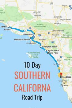 10 day itinerary. Best places to visit in Southern California (beyond Disneyland). Tips for San Diego, Orange County and Ventura County. Plus tips on restaurants and where to eat, drink, and hotels and places to stay throughout your California road trip. Best beaches, cities, things to do and attractions along the route! #RoadTrip #California #travel #familytravel #traveltips