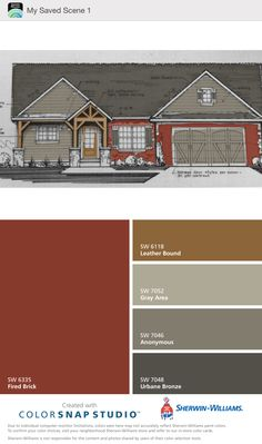 Visualizing My Brick House With Cedar Trim Painted With Sherwin Williams Anonymous And Gray Area