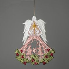Angel of Christmas Ornament- Sonya has the most beautiful angels; and they sew out beautifully...I love them