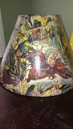 Mod Podge, old lampshade and an X-men comic book. Easy, and awesome!