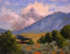 Thunderheads Over Taos Gorge...8x10, oil on linen.
