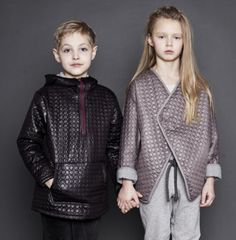 Kids Megatrends A/W 16/17 – ReMaster Modern Armour_Traditional armour is interpreted with modern fabric directions that elevate casualwear and bring a new direction to partywear. Looking back to the metalwork of ancient battlewear provides inspiration for ornate patterns and mythical symbols, modernised by today's designers in a futuristic way.
