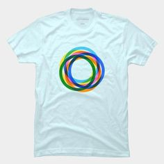 7c42b9d5a Retro Vibrant Circles T Shirt By SOMZEE Design By Humans. Best Abstract  Geometric T-