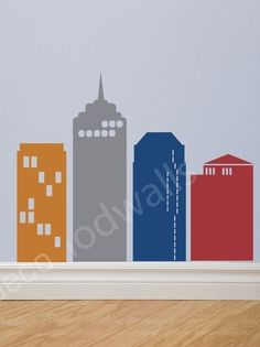 City Wall Decal from Etsy