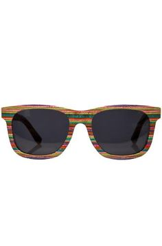 Sunglasses made out of repurposed skateboards