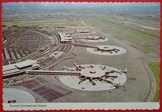 Newark, New Jersey, International Airport, Vintage Postcard, 1974, Airplanes
