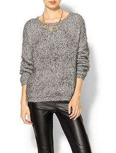 Elizabeth and James Boxy Plush Pullover | Piperlime