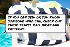 If you can sew or you know #someone who can, check out these #travel bag ideas and patterns.