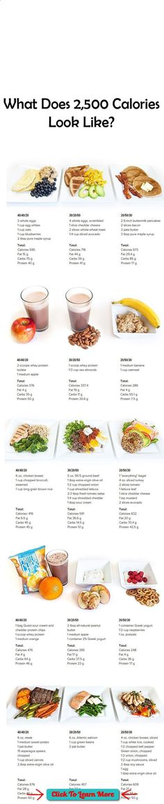 what does calories look like use this handy visual guide to see a day s worth of meals breakfast snack lunch snack and dinner across 3 different
