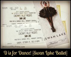 {D} is for Dance ~ Swan Lake Ballet