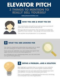 Elevator Pitch - 3 things to mention to really sell yourself