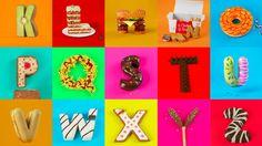 Hora de comer!!!! Así da gusto!!!  Un estudio de diseño gráfico español crea una abecedario delicioso