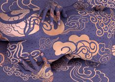 Purple Body Art.