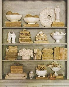 ∷ Variations on a Theme ∷ Collection of antique books and art objets
