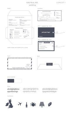 Airline ticket wedding invitations - Gemma Milly Wedding Stationery and Design