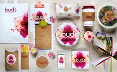 Branding for 'Bud's' Edible Flower Food Truck - Logo Designer