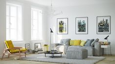 Our third Say Yes to Yellow apartment comes from the design tea at mg design uk.
