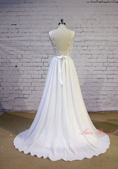 Exquisite Lace Wedding Dress V Shape Neckline By LaceBridal