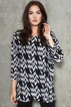 Surface To Air Junk Long-Sleeved Devore Top