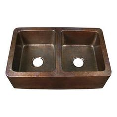 Exceptionnel Glacier Bay, Undermount Pure Solid Copper 32 1/4 In. Double Bowl Kitchen  Sink, DAK 5050 At The Home Depot   Mobile | For The Home | Pinterest |  Double Bowl ...