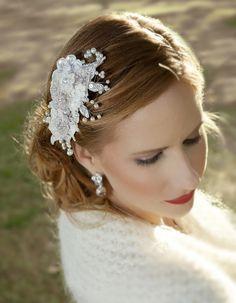 Silver Pearl bridal headpiece