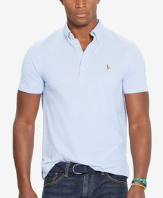 58c6c9a16 Polo Ralph Lauren Men's Hampton Cotton Polo Shirt & Reviews - Polos - Men -  Macy's